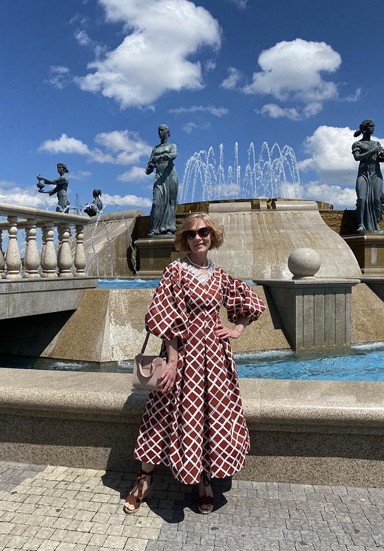 Платье терракотового цвета от Азалия