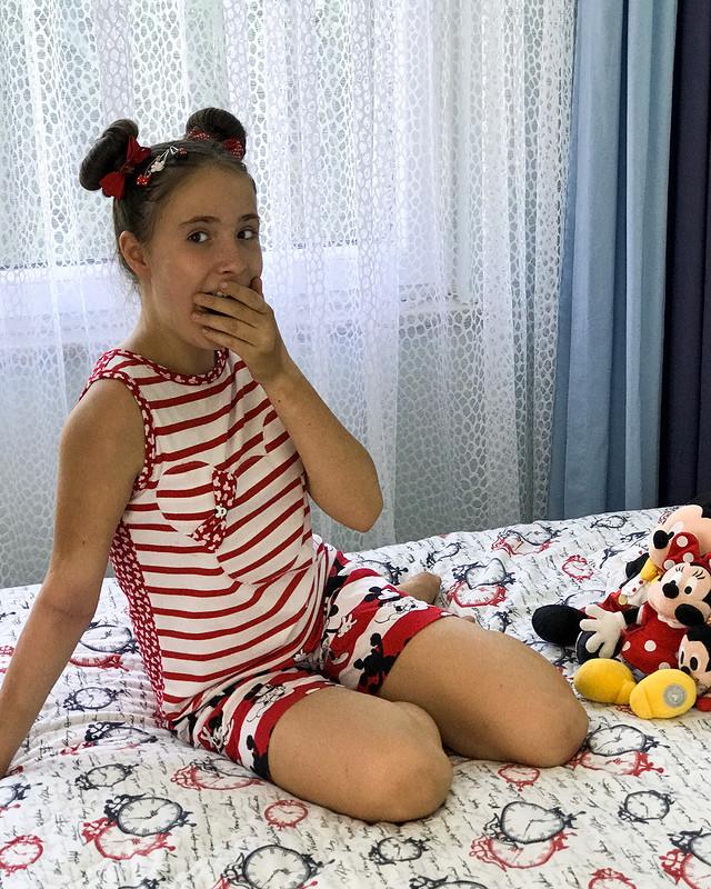 Летняя пижама длядевочки «Микки Маус, отбой!» от masmar.ru