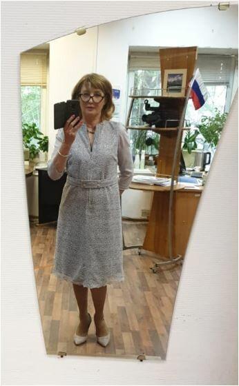 Платье изсерого гипюра спайетками от Ольга Зайцева