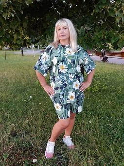 Работа с названием Костюм в пижамном стиле: рубашка и шорты