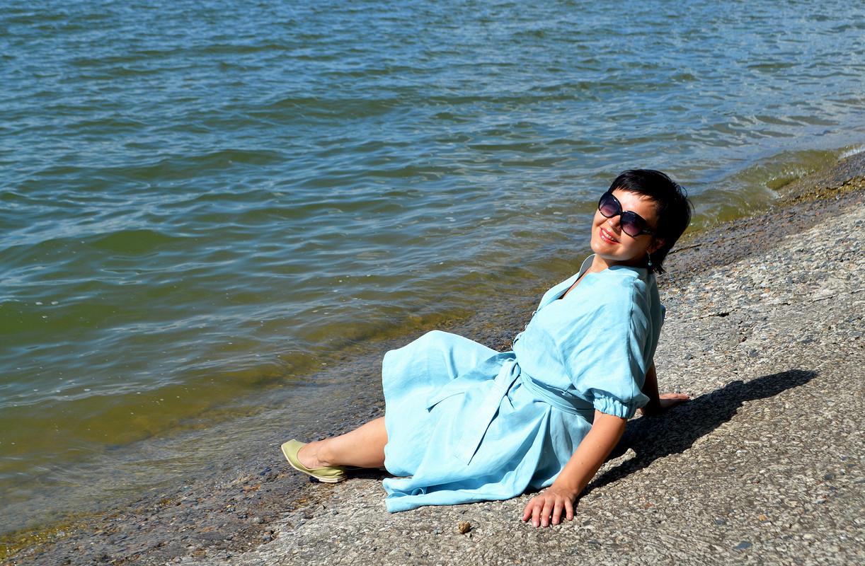Голубое платье от Любаева Светлана