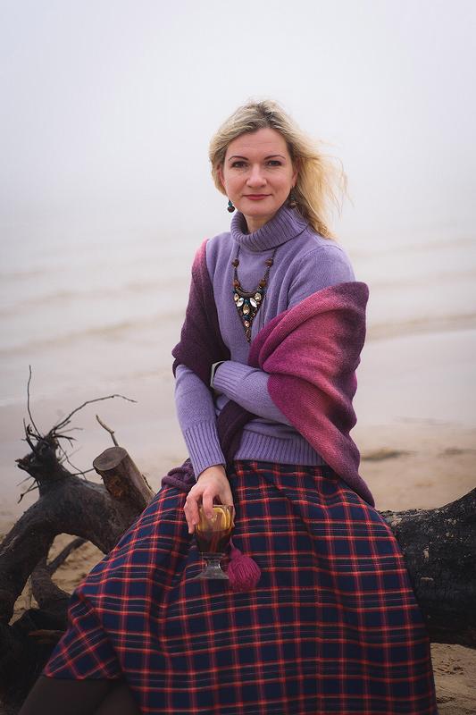 Юбка-солнце изклетчатой ткани от Светлана Рассмехина