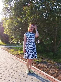 Работа с названием Июльское платье-рубашка