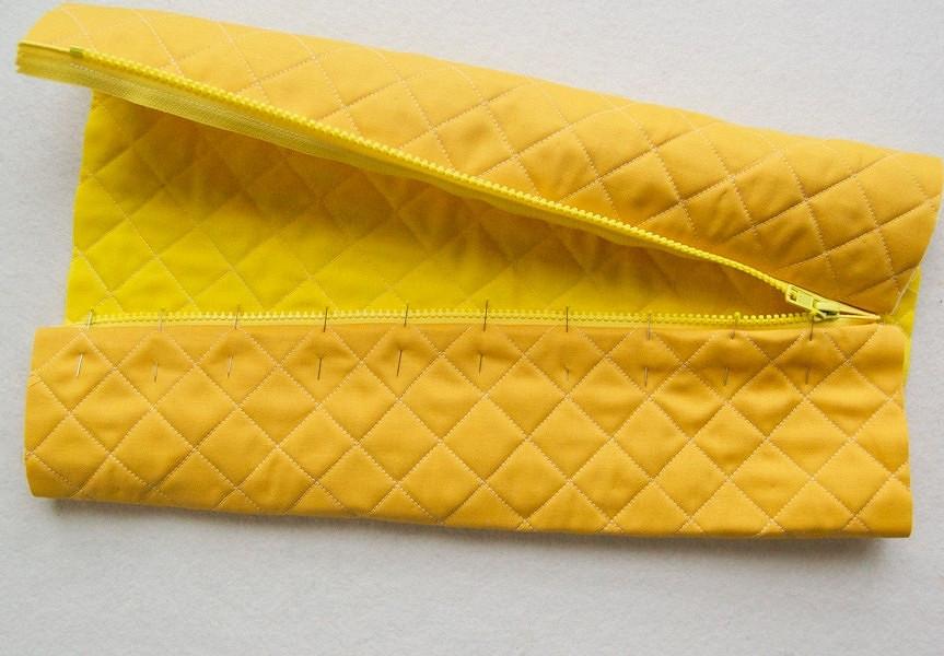Как сшить стёганую сумочку намолнии: мастер-класс