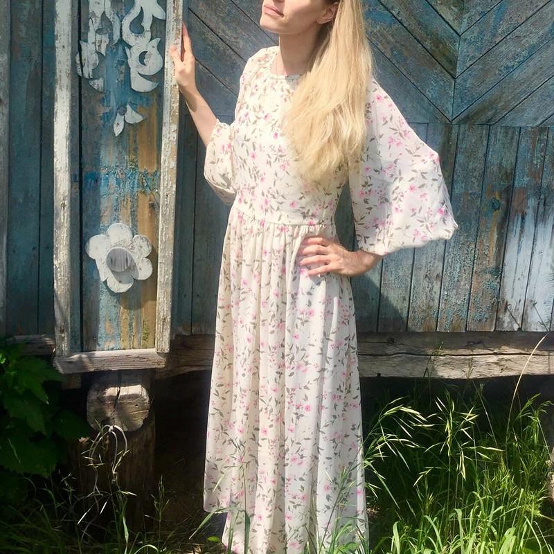 Платье спышными рукавами отZimmermann от Ирина Олеговна