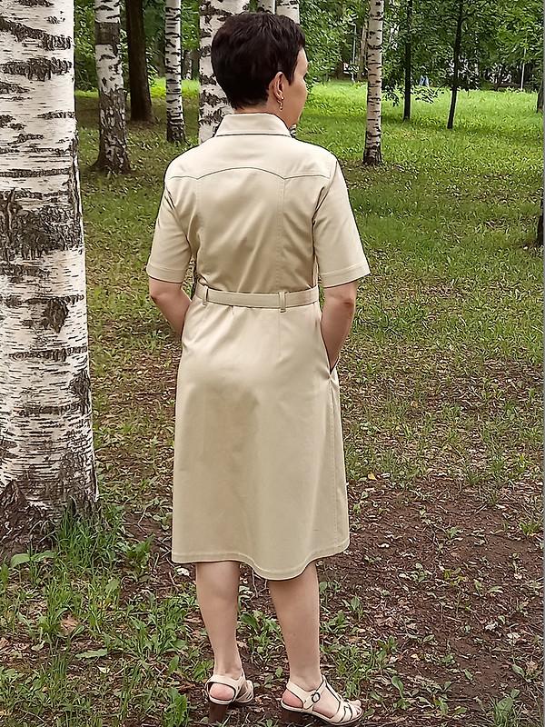 Платье-сафари от Людмила @m.madmuasel