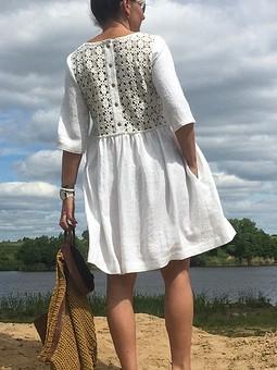 Работа с названием Платье льняное
