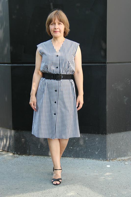 Платье «Черно-белая классика длялетнего офиса» от fortuna