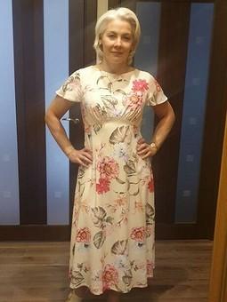 Работа с названием Легкое платье из штапеля