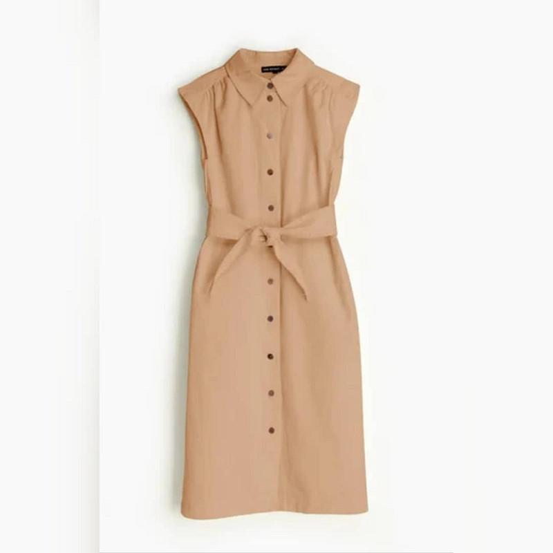 Милитари платье-рубашка от fortuna