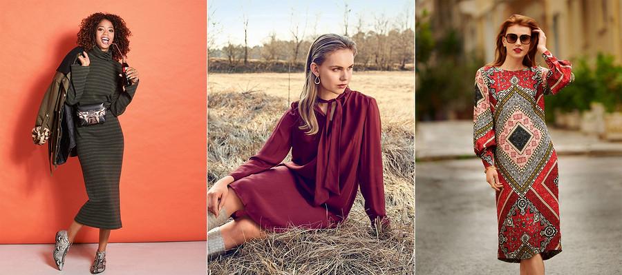 Теплое платье: выбираем выкройку ишьём понравившуюся модель