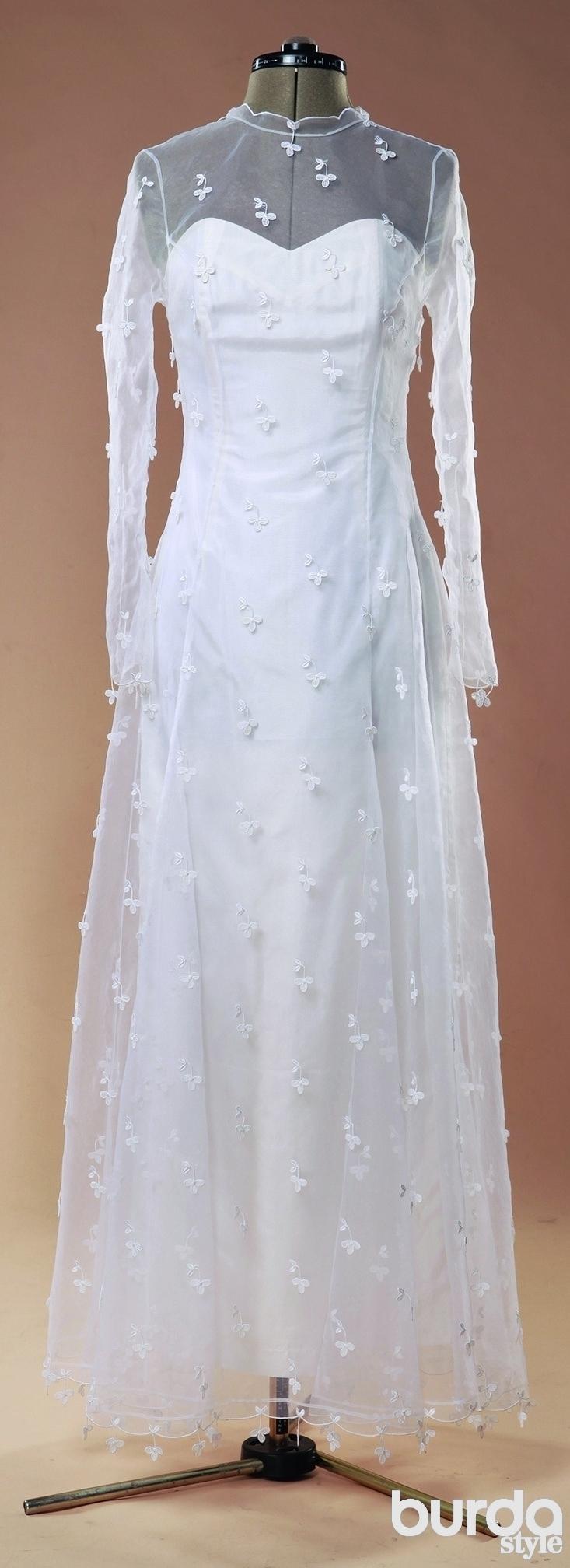 Как шить изорганзы: свадебное платье