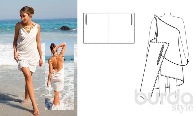 Выкройка летнего свободного платья для начинающих пошаговая инструкция