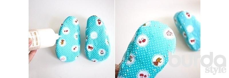 Детские пинетки с ремешками: шьем сами