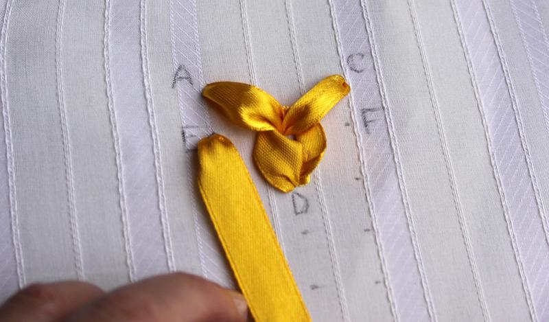 Вышивка шелковыми лентами: растительные мотивы