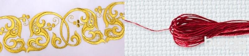 Купить золотые нити для вышивки