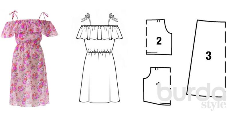 Выкройка летнего платья из журнала OTTOBRE Design ^ + МК урок Как