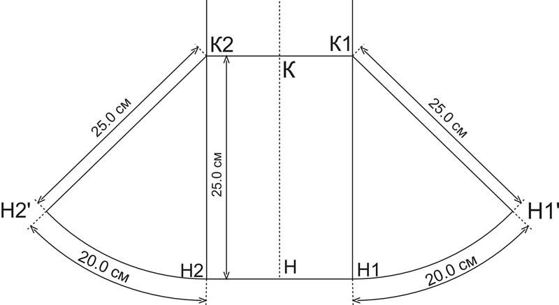 Построение юбки из клиньев юбка-годе