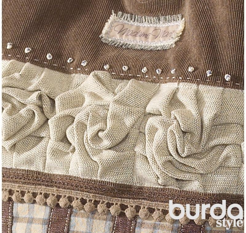 Винтажная сумка со стилизованными розами