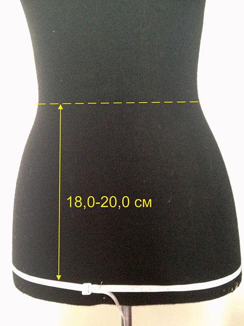 Как снять мерки прямой юбки