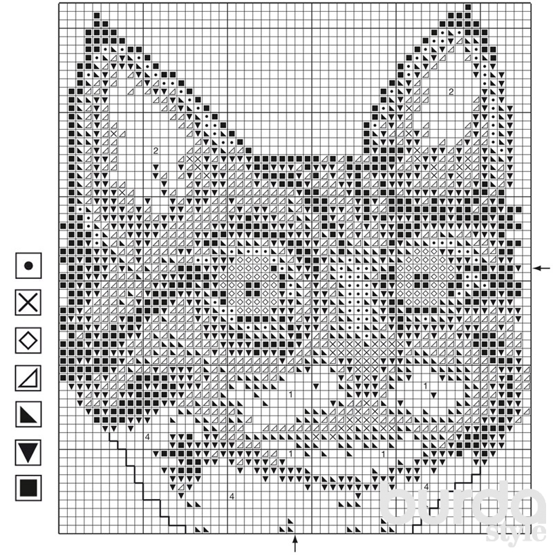Вышивка крестом: кошка для