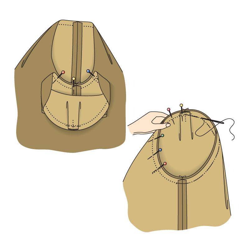 Шьем платье с V-образным вырезом и присборенной талией