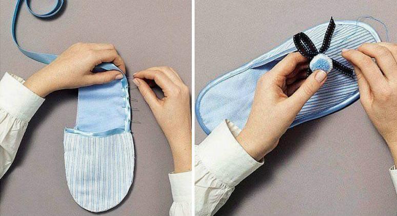 Как сшить тапочки своими руками
