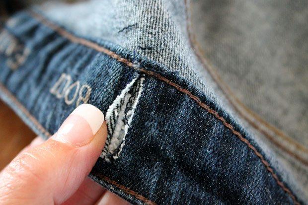 Как приталить пояс на юбке
