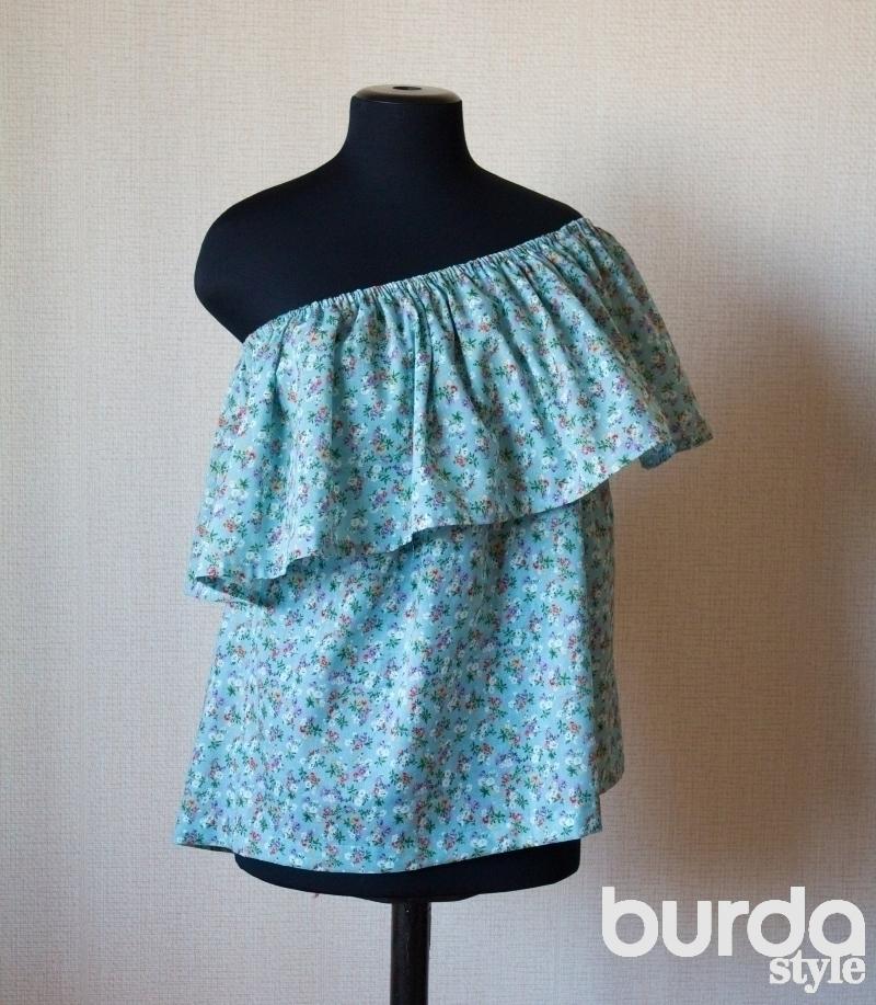 Оборки на платье как шить