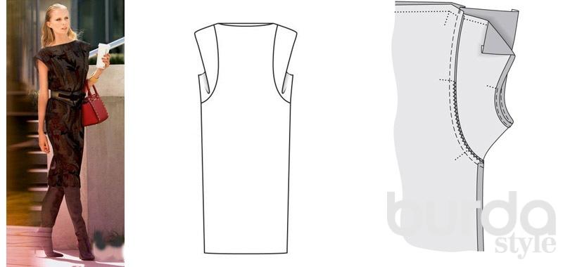 Сшить платье прямое фото