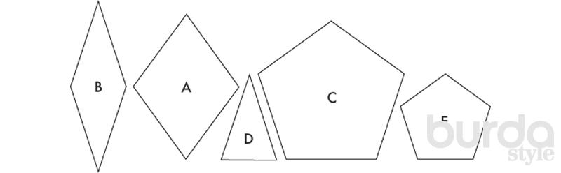 Квилт, сшитый по шаблонам в английской технике