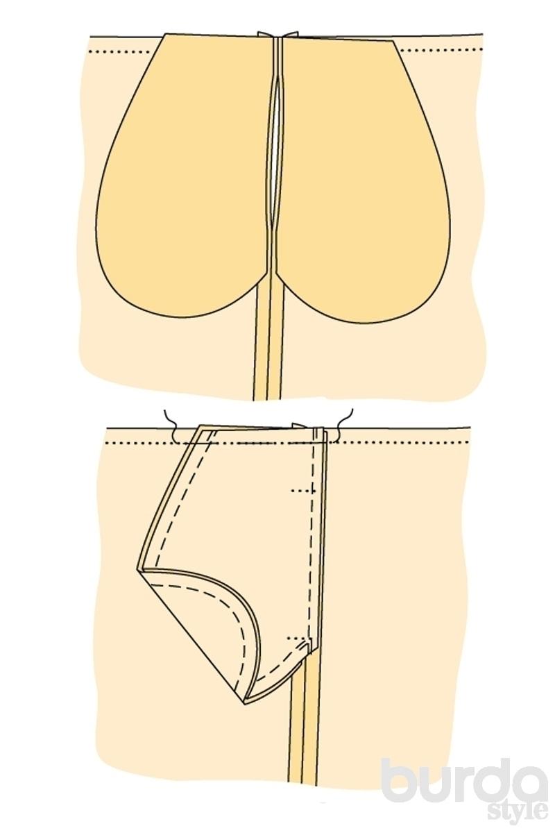 Как сделать карман в шве на юбке