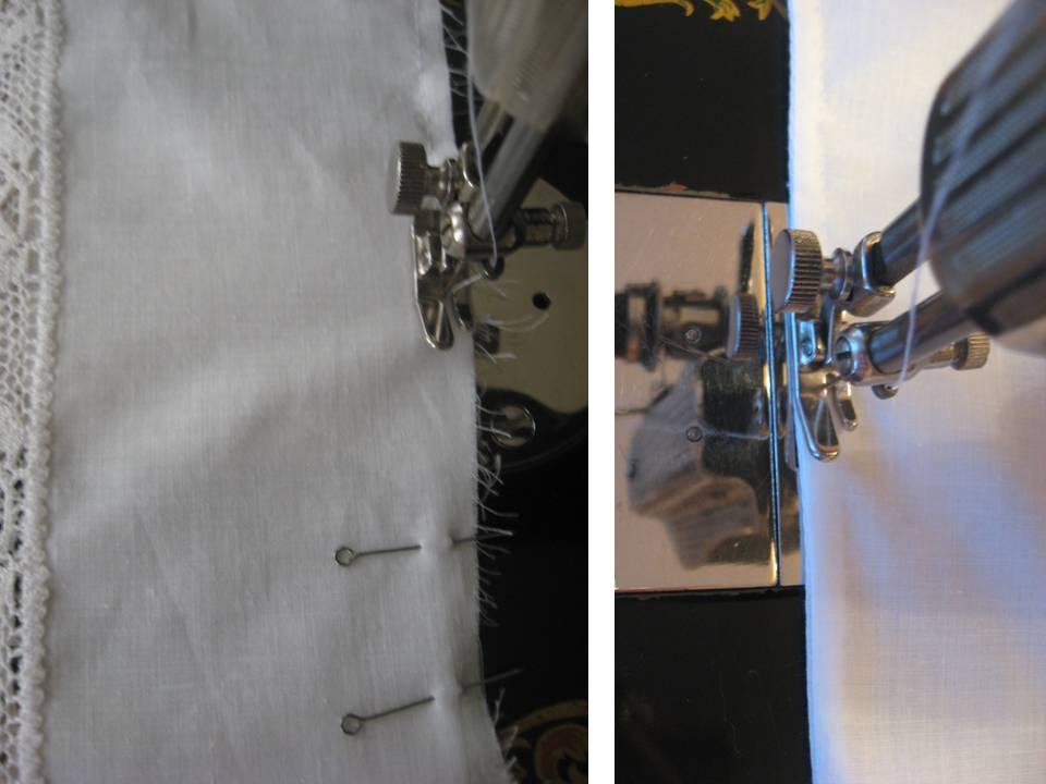 Крестильная рубашка для мальчика с отделкой кружевом