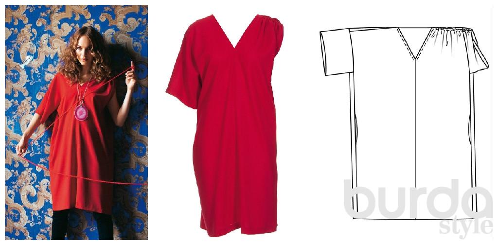 Как сшить из халата платье