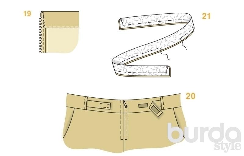Шьем узкие прямые брюки с 4 карманами