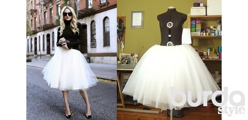 Как сделать юбку очень пышной юбкой