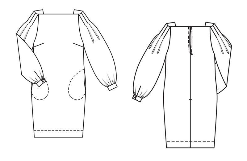 Выкройки платьев бурды