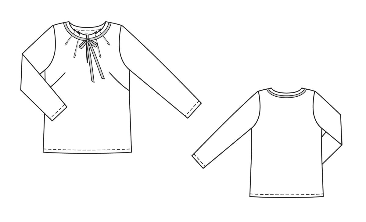 Блузки из шелка, выкройка