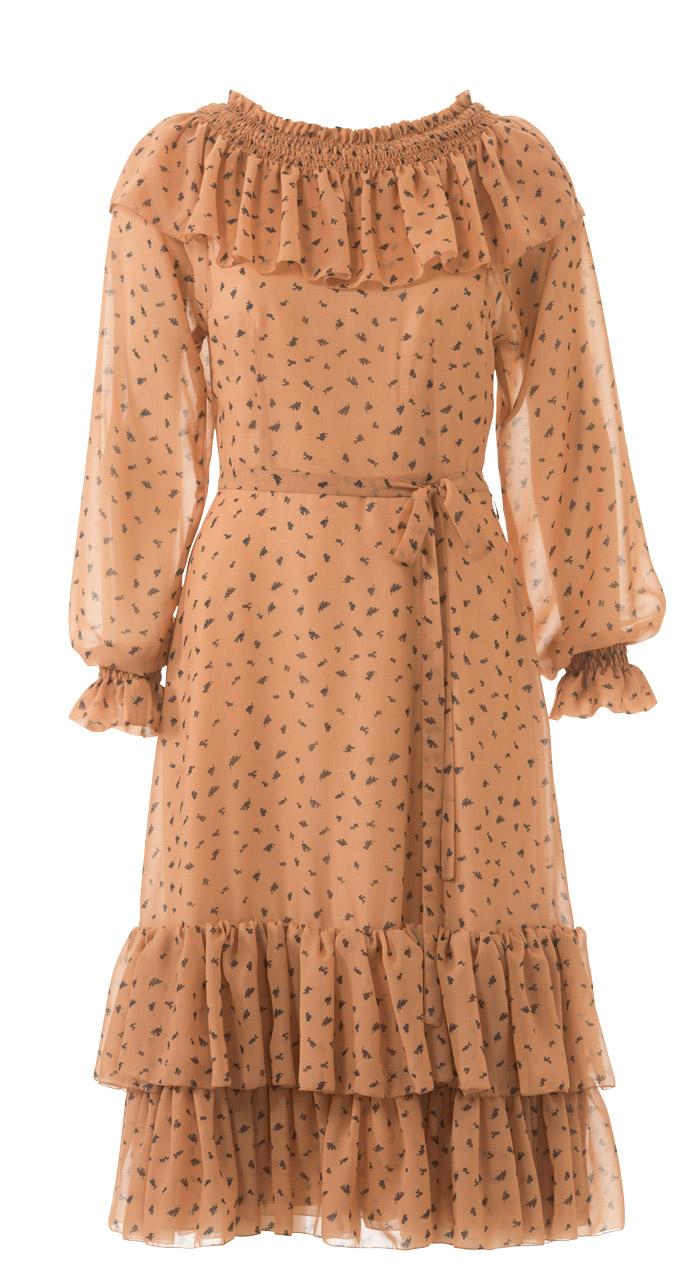 Платье отрезное по талии резинка