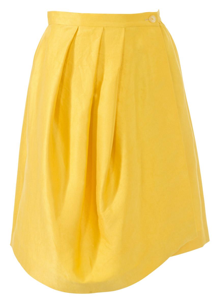 Желтая юбка с запахом
