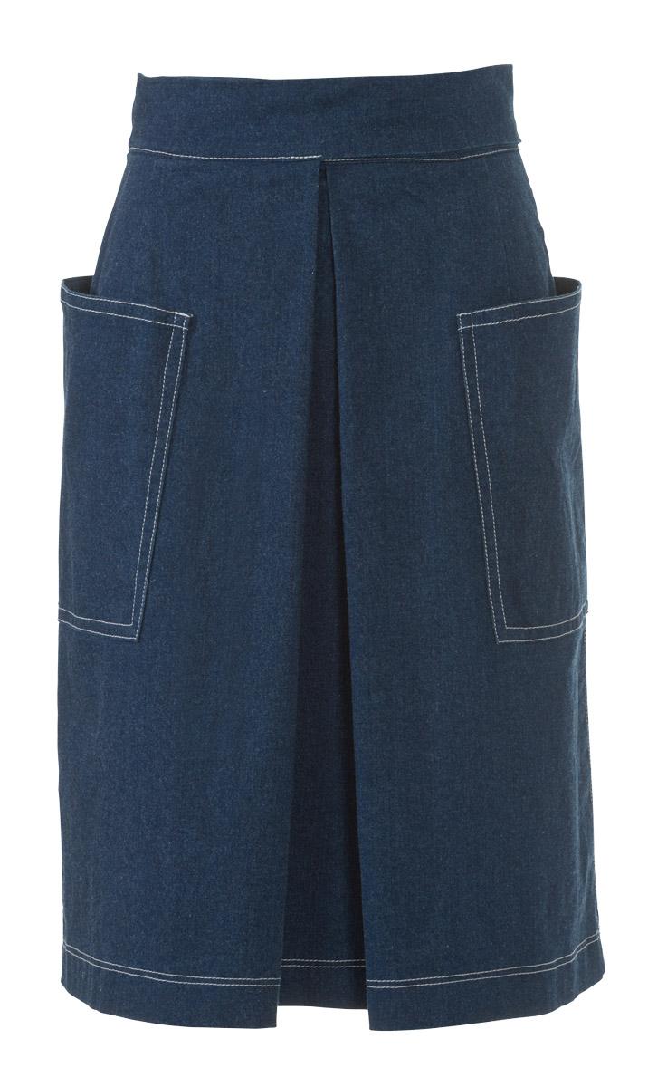 Выкройка юбки на запах со складками