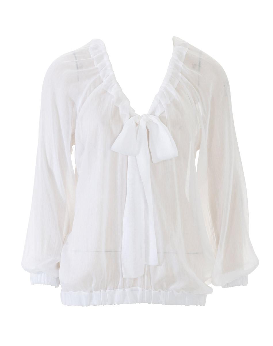 Скачать выкройку блузки с рукавами реглан