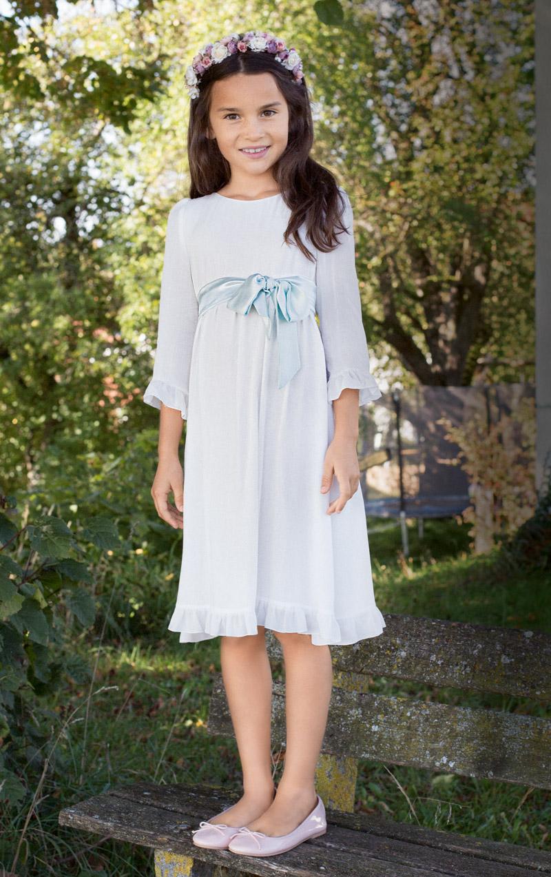 Платье с завышенной талией для девочки фото