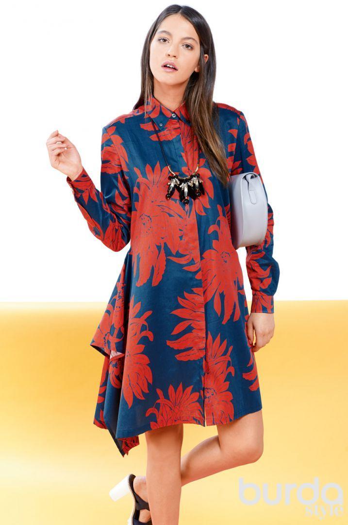Платье-рубашка…#2«Цветочная клумба»