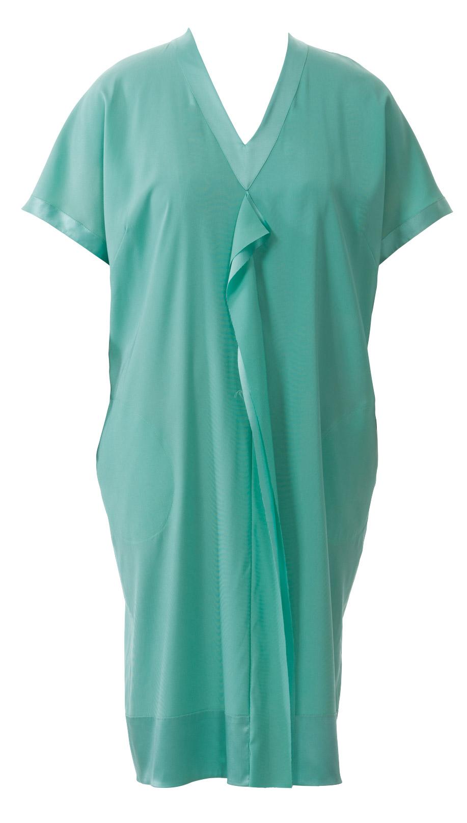 В образный вырез на платье как сшить