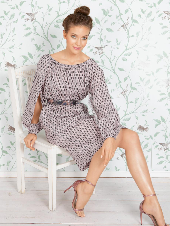 Платье из ткани пэчворк