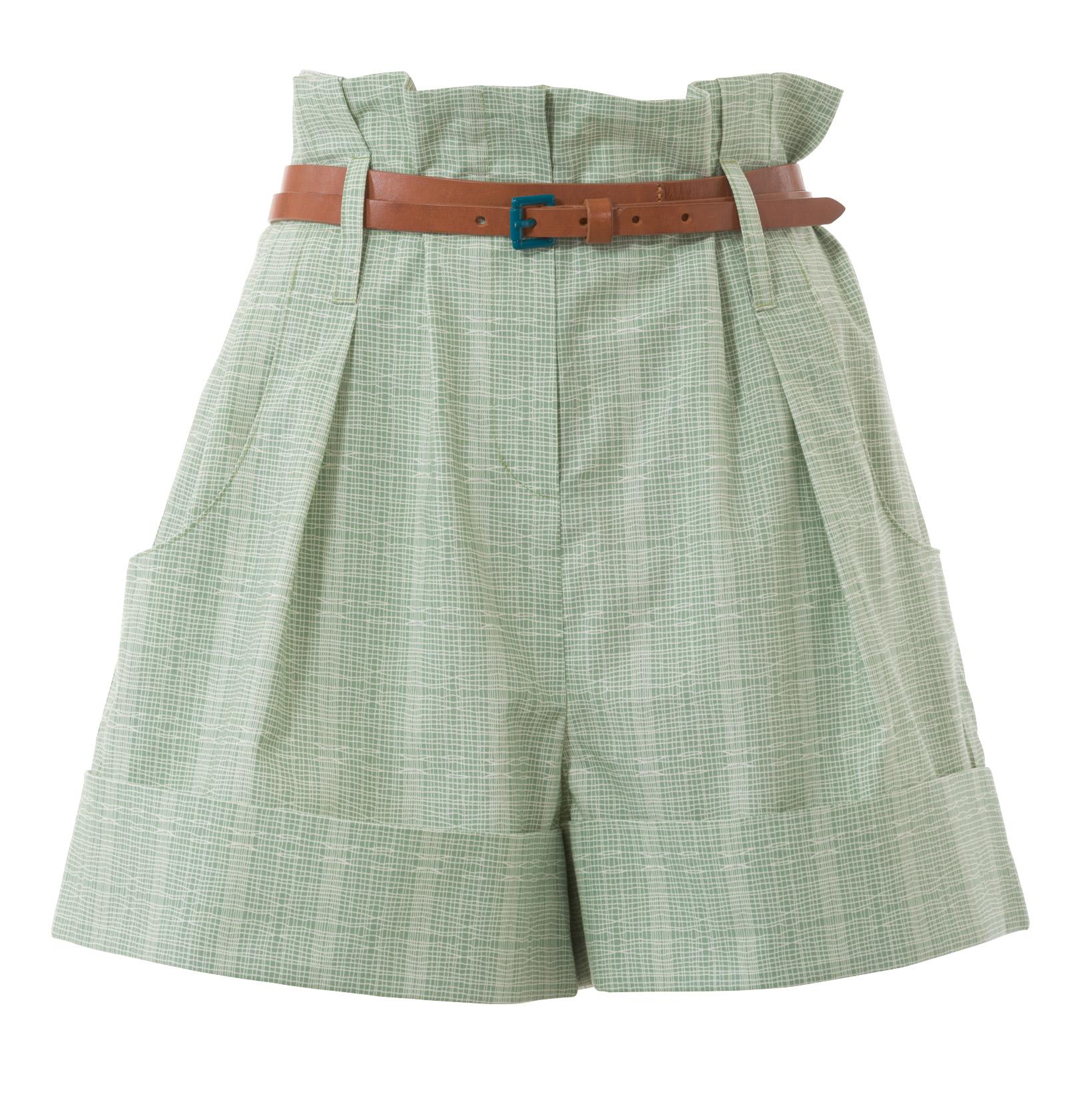 Выкройка шорты со складками