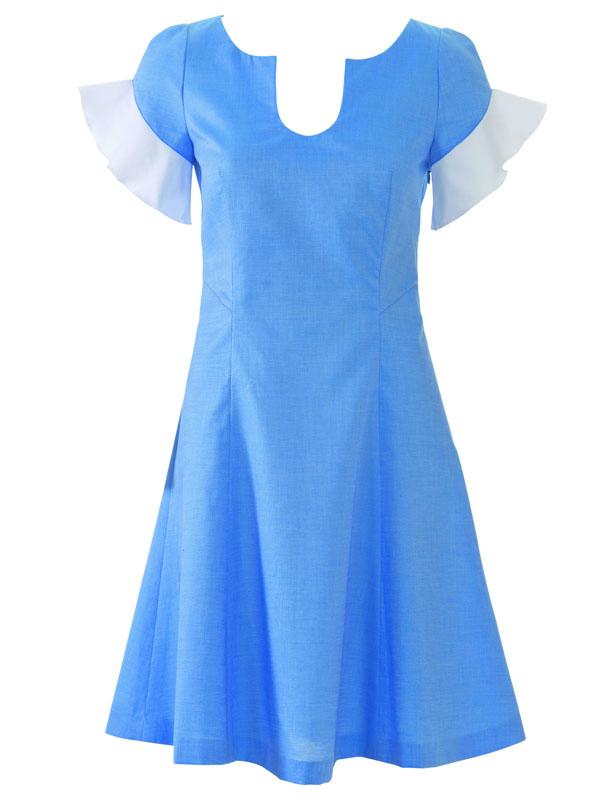 Сшить расклешенное платье от талии