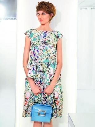 Платье с мини-рукавами