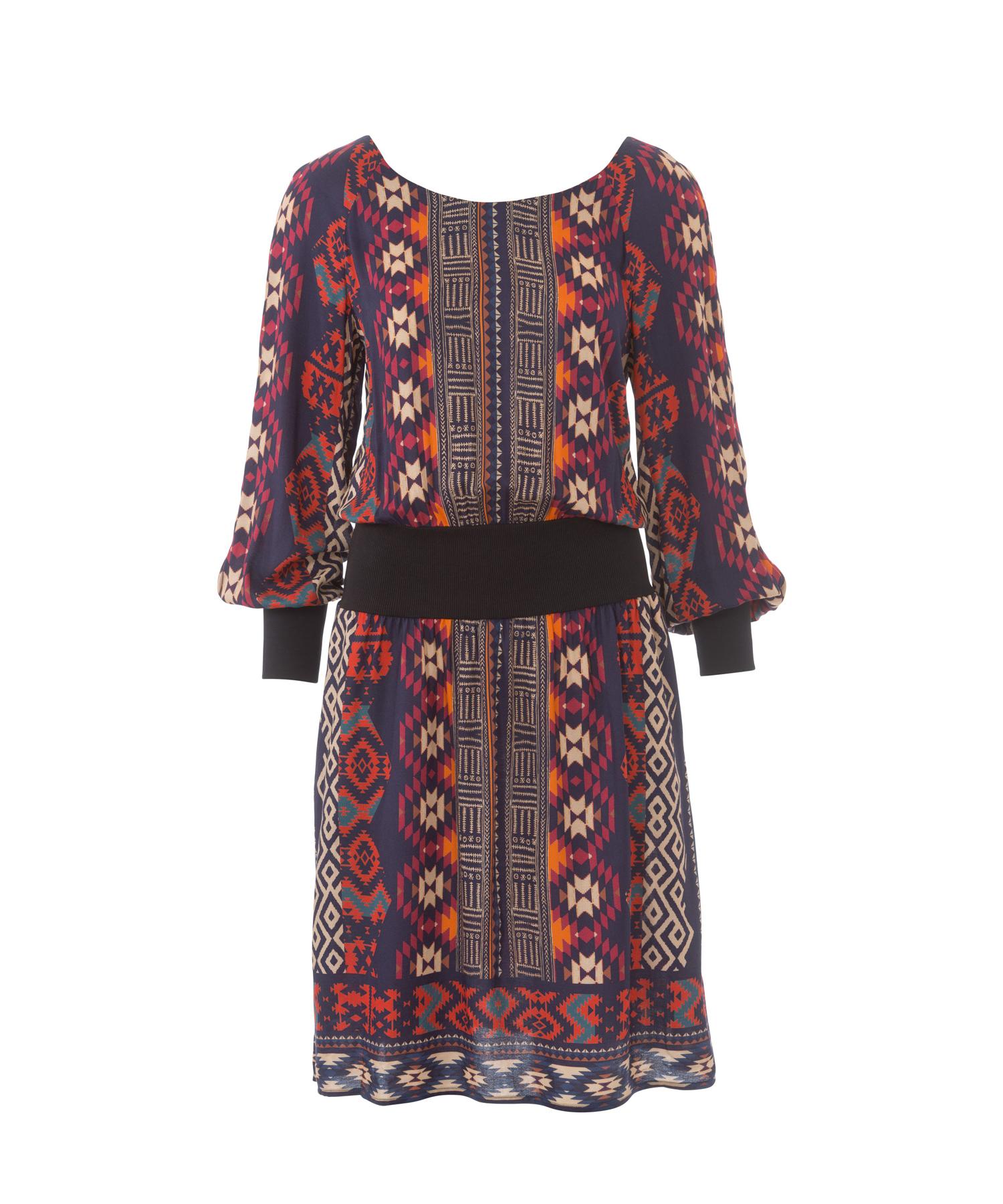 Прямое платье с рукавом бурда